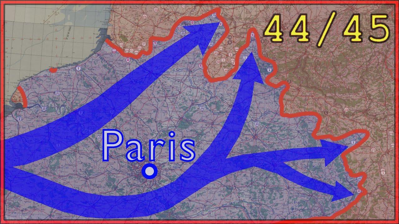 Läänerinne 1944 - 1945 kaardil kuvatuna