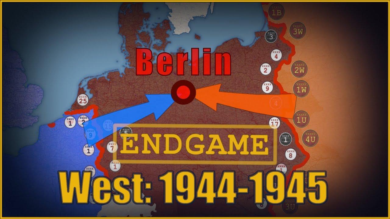 Teise maailmasõja viimane aasta läänerindel, kaart