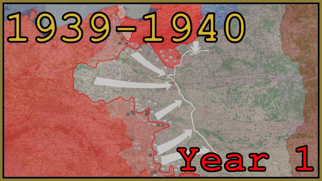 Teine maailmasõda animeeritult september 1939 - august 1940