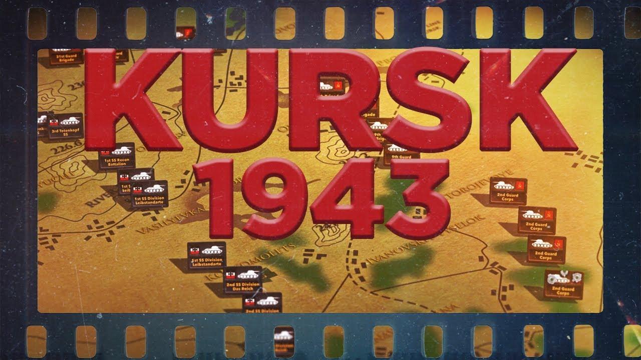 Kurski lahingu animatsioon kaardil, 1943