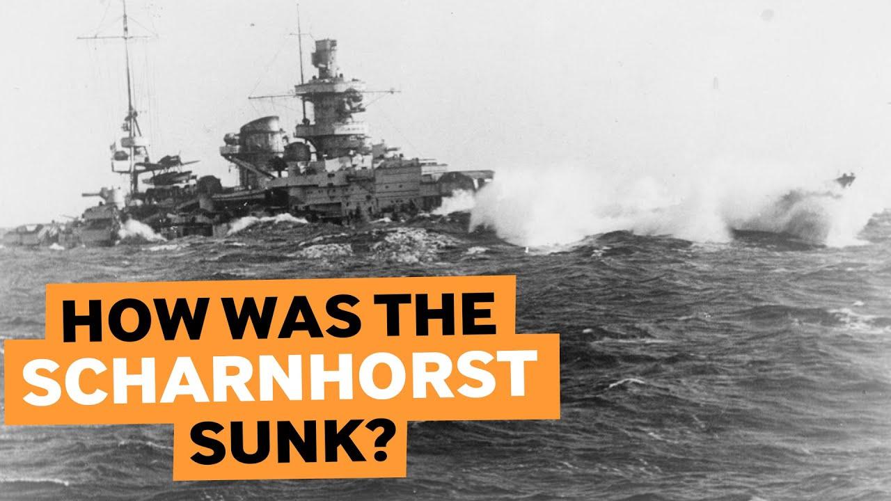 Põhja neeme lahing - lahingulaev Scharnhorsti uputamine