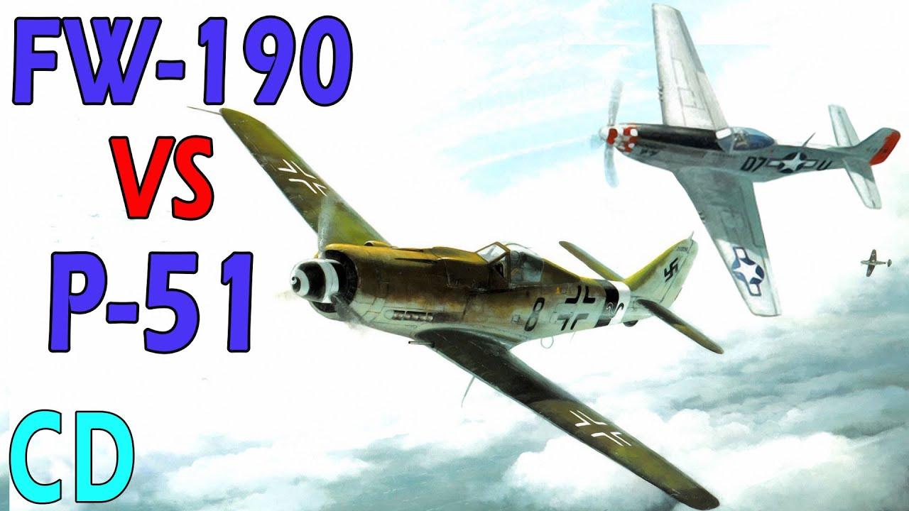 Focke-Wulf FW-190 vs P-51 Mustang